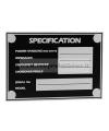 5800 Targhetta in alluminio specifiche per diffusori casse acustiche box JBL Nexo Martin