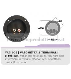 YAC006 CIARE Vaschetta porta terminali tonda a pressione da incasso contatti dorati morsettiera