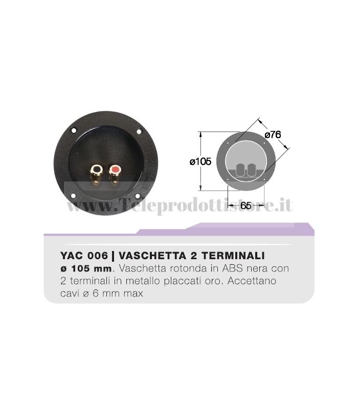 YAC006 Vaschetta portaterminali tonda contatti dorati CIARE porta terminali