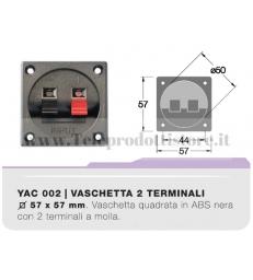 YAC002 CIARE Vaschetta porta terminali quadrata contatti a clip da incasso morsettiera