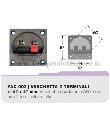 YAC002 Vaschetta portaterminali quadrata contatti a clip CIARE porta terminali