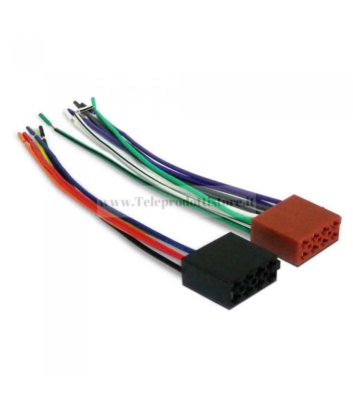 ISO-001 Coppia connettori ISO per autoradio connettore femmina auto altoparlanti