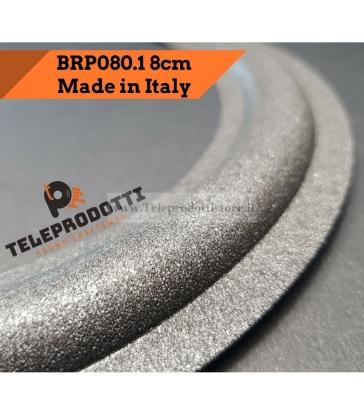 BRP080.1 Sospensione altoparlante woofer 80mm 8,0 cm bordo di ricambio in foam