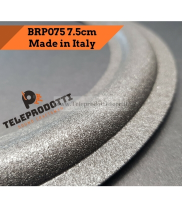 BRP075 Sospensione altoparlante woofer 75 mm. 7,5 cm. bordo di ricambio in foam
