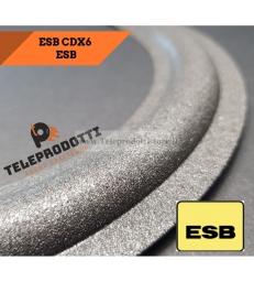 ESB CDX SB6 Sospensione di ricambio in foam per midrange bordo 10 cm. CDX-SB6 SB 6