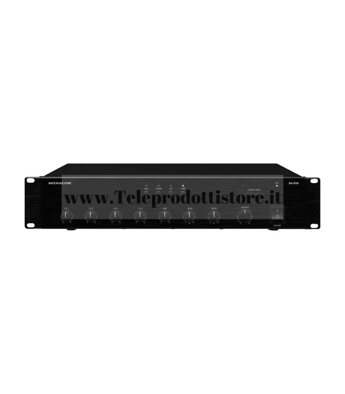 PA-924 Monacor Amplificatore mixer 100v240w 4Ingr Mic 4Ing RCA L 1ing RCA out