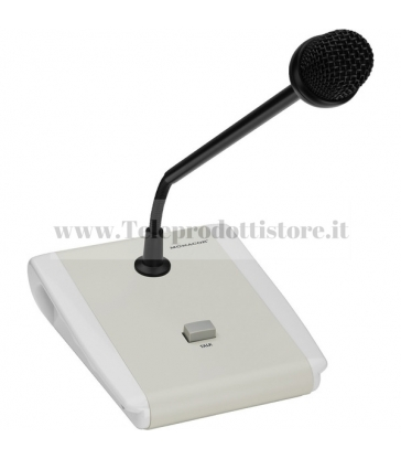 PA-5000PTT Monacor Microfono tavolo PA-PTT collegamento PA-5240 PA-5480