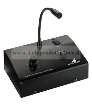 PAM-10 Monacor Microfono Amplificato PA Amplificatore con microfono a zone