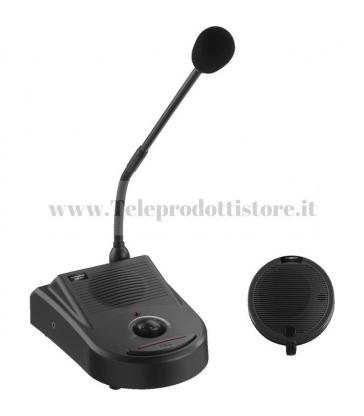 ICM-20H Monacor Interfono parla ascolta da sportello vetro plexiglass microfono cassa