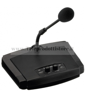 ECM-450 Monacor Microfono PA da tavolo con collo di cigno con gong