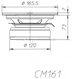 COPPIA CM161 WOOFER CIARE 16 cm 200 W MIDRANGE MEDIO CAR AUTO SPL CM 161 DA PORTIERA