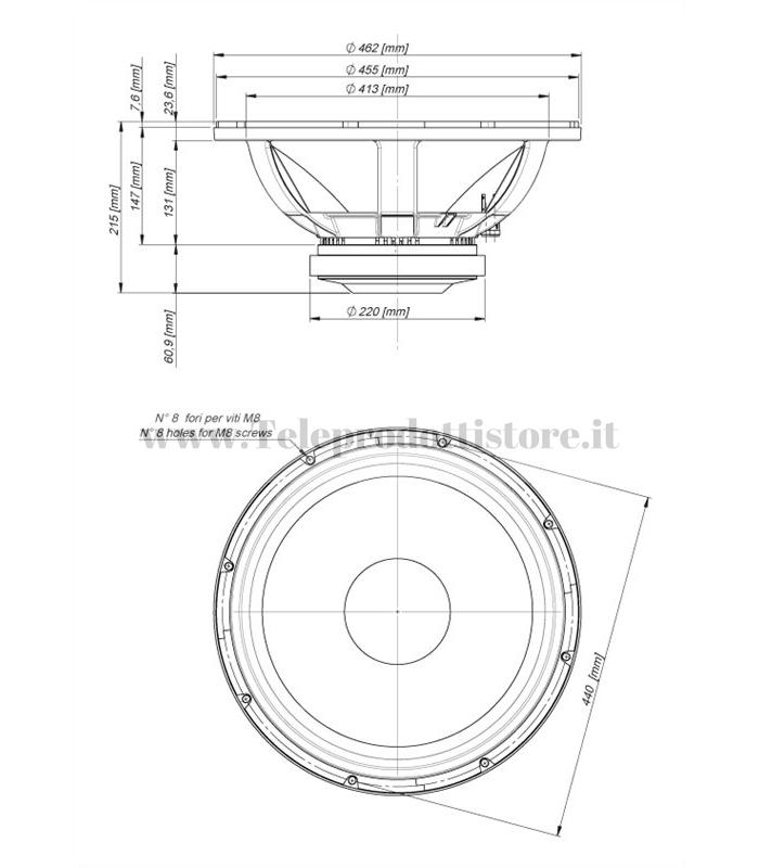 18w2001 18 Sound Altoparlante Ferrite Subwoofer 1200w Aes 99db 18