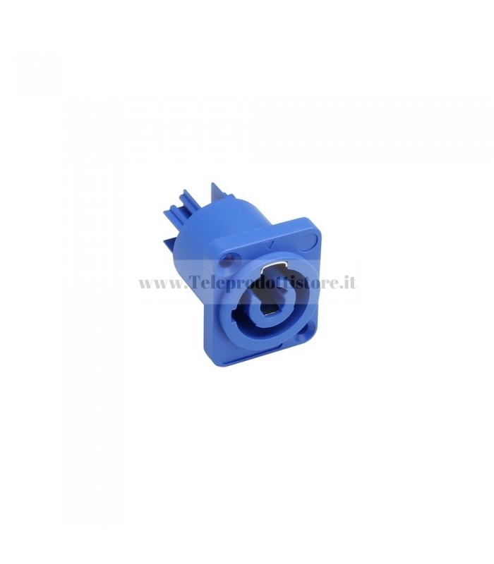 7921 Connettore spina Powercon femmina di alimentazione a pannello blu in
