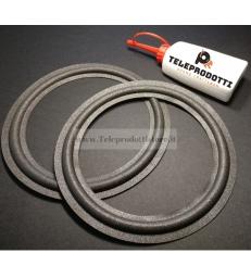 BRP201K kit 2 Sospensioni di ricambio per woofer midrange in foam bordo e colla 200 mm. 20 cm.