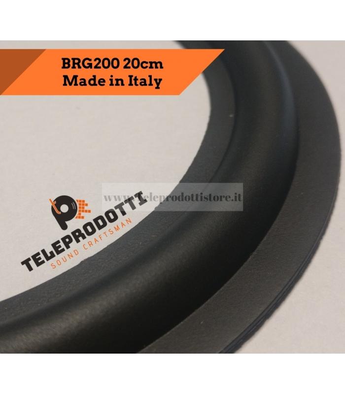 """BRG200 Sospensione di ricambio per woofer midrange in gomma bordo 200 mm. 20 cm. 8"""""""