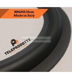 """BRG155 Sospensione di ricambio per woofer midrange in gomma bordo 155 mm. 15.5 cm. 6"""""""