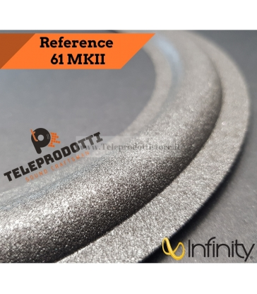 """INFINITY REFERENCE 61 MKII Sospensione di ricambio per woofer in foam bordo MK2 8"""""""