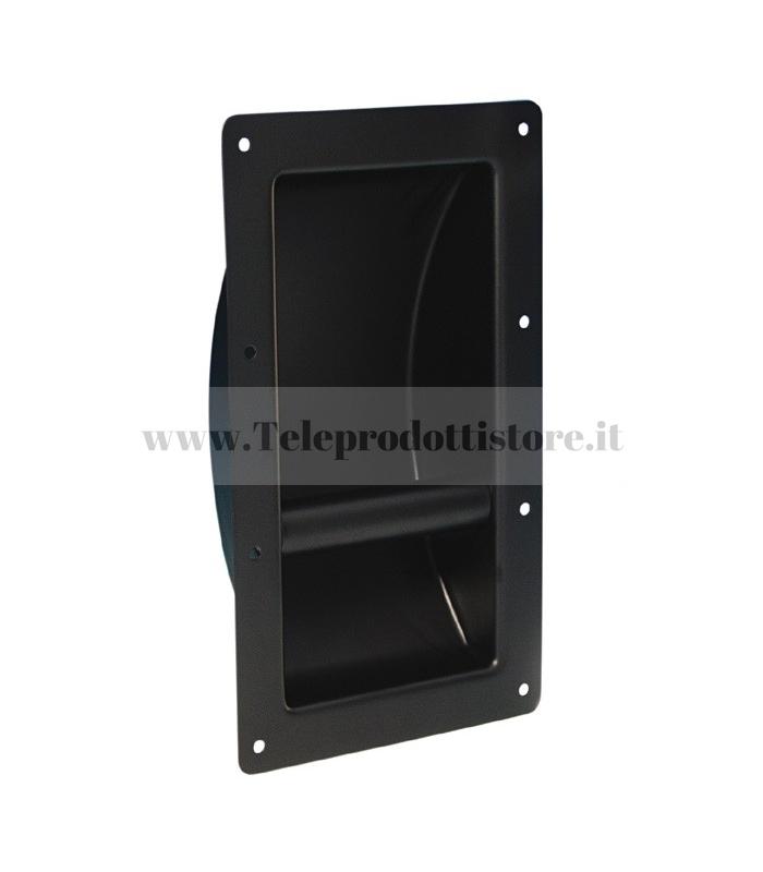 3400 Maniglia ad incasso in acciaio nera per flight case casse diffusori in legno