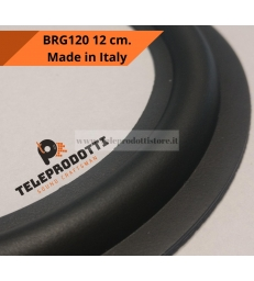 BRG120 Sospensione di ricambio per woofer midrange in gomma bordo 115 mm. 12 cm.
