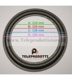 BRP160CK kit 2 Sospensioni di ricambio per woofer midrange in foam bordo e colla 160 mm. 16 cm.