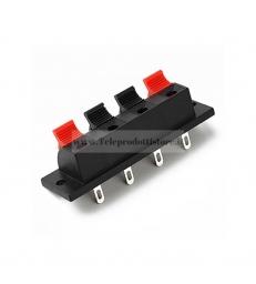 Vaschetta porta terminali a molla da incasso morsettiera 4 poli rosso nero