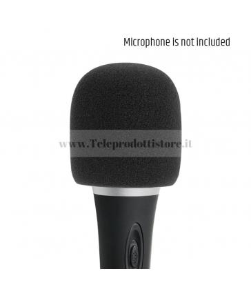 D913BLK Spugna antivento per microfono antipop anti pop vento cuffia nero