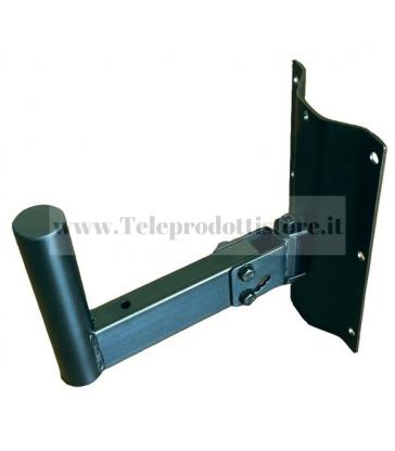 SSZZ505B Supporto a parete staffa per casse acustiche audio metallo nero Monacor