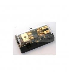Portafusibili doppio per fusibili in vetro AGU fusibile portafusibile amplificatore auto positivo